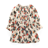 Girls Dresses Clothes Spring 2018 Kids Clothes Long Sleeve Flowers Printing Design Princess Dress For 2