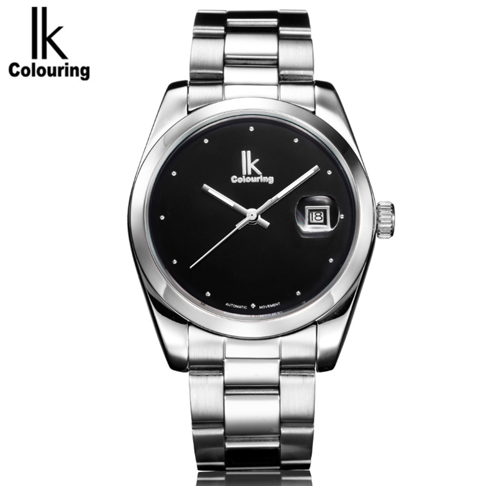 2017 IK Casual Mens Watches Top Brand Luxury Day Watches Auto Mechanical Wristwatch with Orignial Box Free Ship