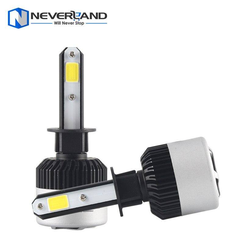 ФОТО 1Pair H1 72W 9000LM 6500K COB LED Car Automotive Headlight Kit Fog Lamp Bulb DRL Xenon White Play & Plug
