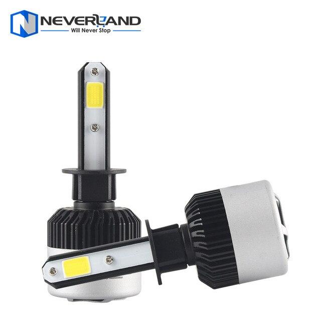 1Pair H1 72W 9000LM 6500K COB LED Car Automotive Headlight Kit Fog Lamp Bulb DRL Xenon White Play & Plug