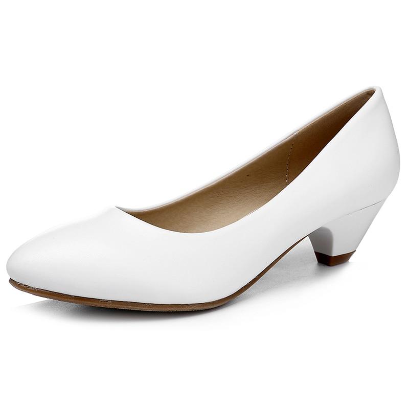 Tacones Bombas Señora Para Niñas Vestido blanco Mujer Moda Cm 3 Altos Yalnn Puntiaguda De Zapatos Negro Oficina Punta Negro Bomba R6dnaw