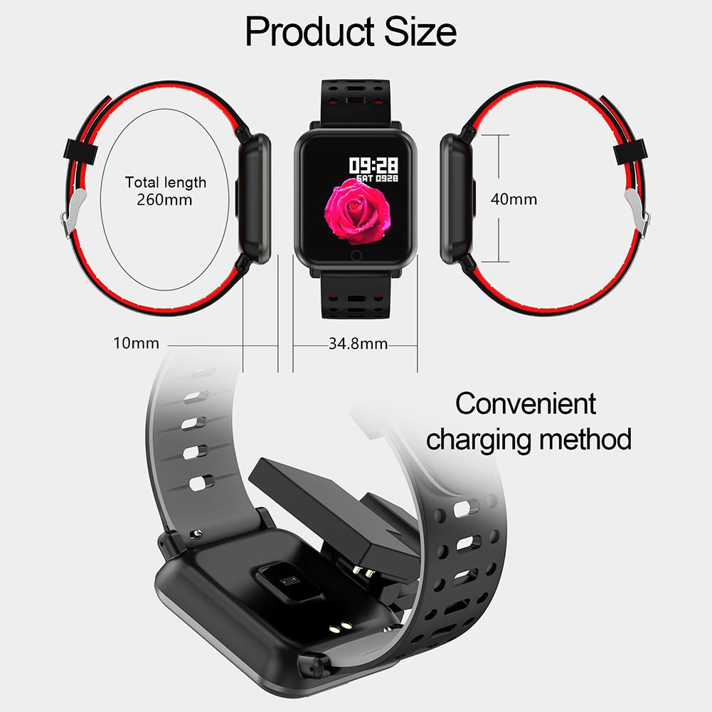 Image 5 - Цветной экран умный Браслет трекер пульсометр кровяное давление кислородный шагомер, контроллер сна Обнаружение вызова сообщение Bluetooth браслет-in Смарт-браслеты from Бытовая электроника