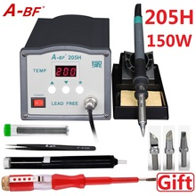 A-BF205H 220V 150W High frequency soldering station / Lead free solder station / High-end CNC vortex high power ac 220v quick solder stations 90w esd safe lead free digital high frequency eddy rework soldering stations