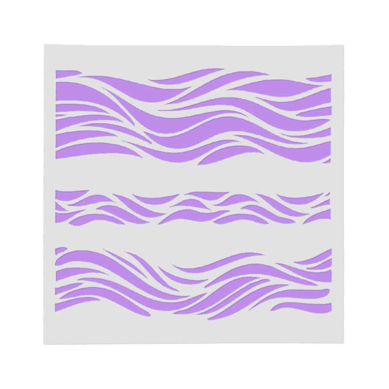水波 pvc 階層化ステンシル diy スクラップブッキング/フォトアルバム装飾エンボス DIY 紙カードクラフト