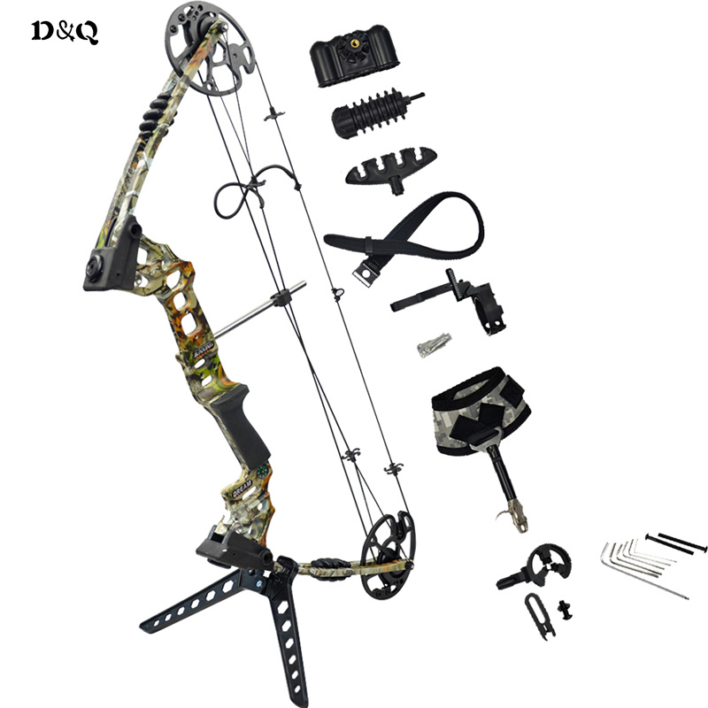 D&Q 20lbs-70lbs Left Right Hand Archery Hunting Compound Bow Set for Adult Hunter Shooter Outdoor Hunting Competition Sport 50lbs archery compound bow left right handed for hunting target shooting competition sport slingshot bow camouflage black color