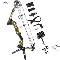 D&Q 20lbs 70lbs Left Right Hand Archery Hunting Compound Bow Set for Adult Hunter Shooter Outdoor Hunting Competition Sport