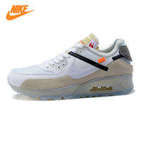 Nike Air Max 90 OFF WHITE & NIKE Men's Running Shoes ,Outdoor Sneakers Shoes, White ,Abrasion Resistant Non slip AA7293 100