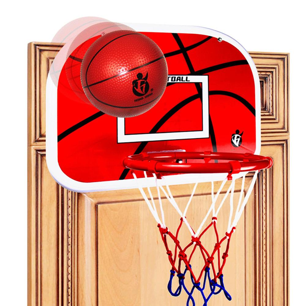 Children Mini Wall Mounted Basketball Backboard Hoop Net Ball Pump Sport Toy
