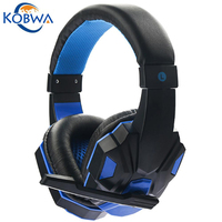 Kobwa Hot USB 3 5mm Surround Stereo Gaming Headset Headband Noise Canceling Headphone With Mic Volume