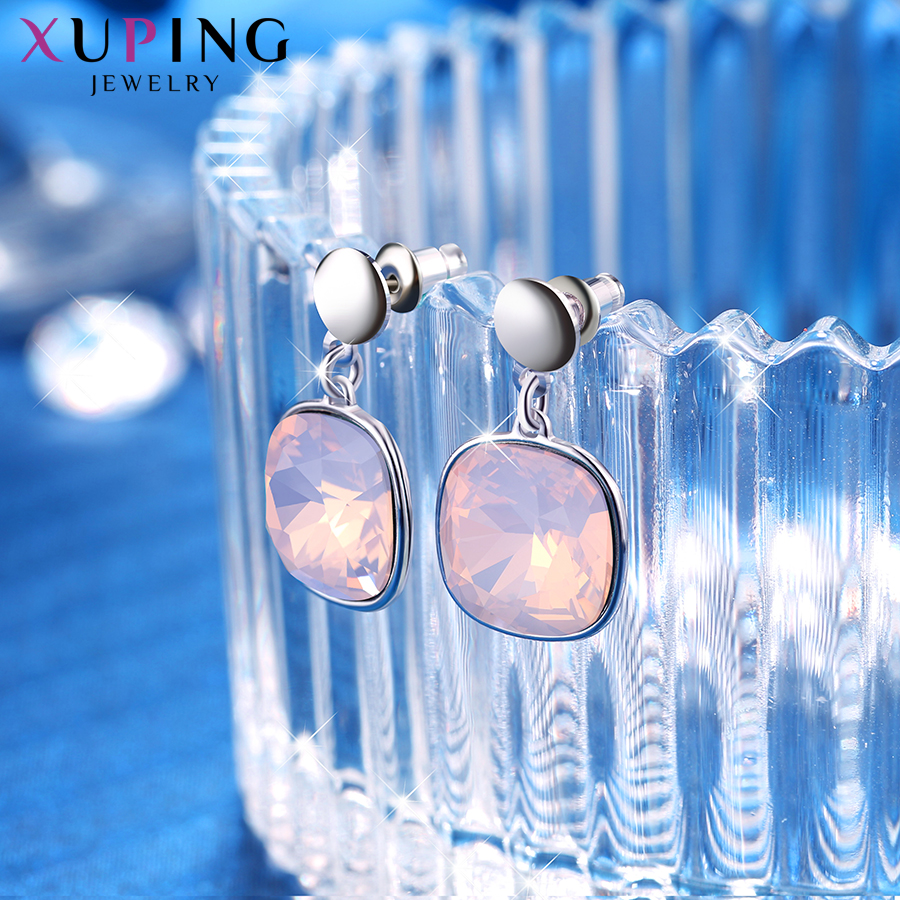 HTB1j5V6XvfsK1RjSszgq6yXzpXan - Xuping Square Earrings Crystals from Swarovski Luxury Vintage Style Jewellery Women Girl  Valentine's Day Gifts M94-20493