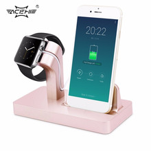2 in 1 Desktop Stand Station Cradle Charging USB Charger Dock For iPhone 6 6S 7 7 Plus 5/5S/5C/5E For iWatch Bracket(China)