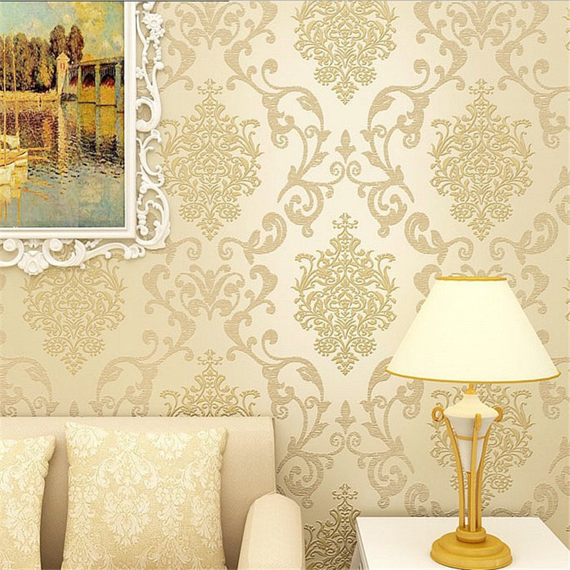 beibehang papel de parede Wallpaper Textured Non-woven Decal Wall Paper Rolls Living Room Bedroom Wall Decoration papier peint 0 7m 8 4m luxury wall paper shining silver golden glitter non woven wallpaper rolls removable 3d panel papel de parede ab5192