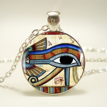 Ancient Egypt Egyptian The Eye of Horus ( Wedjat Eye ) Pendant Choker Statement Silver Necklace For Women Dress Accessories HZ1