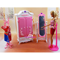 Miniature Furniture Rose Palace Dressing Room & Mirror for Barbie Doll House Pretend Play Toys for Girl Free Shipping