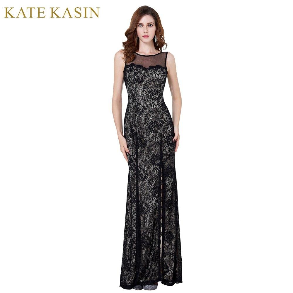 2017 Black Lace Cheap Evening Dresses Long Elegant Mermaid ...