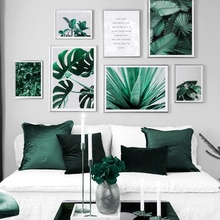 Monstera Leaves Aloe Plant Farm Quotes Wall Art Canvas Painting Nordic Posters And Prints Pictures For Living Room Decor
