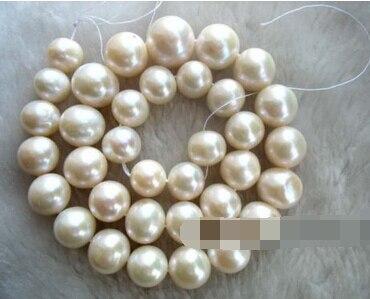 Bijoux 00869 plus! Perles d'eau douce blanche 11.5 - 14 mm 15