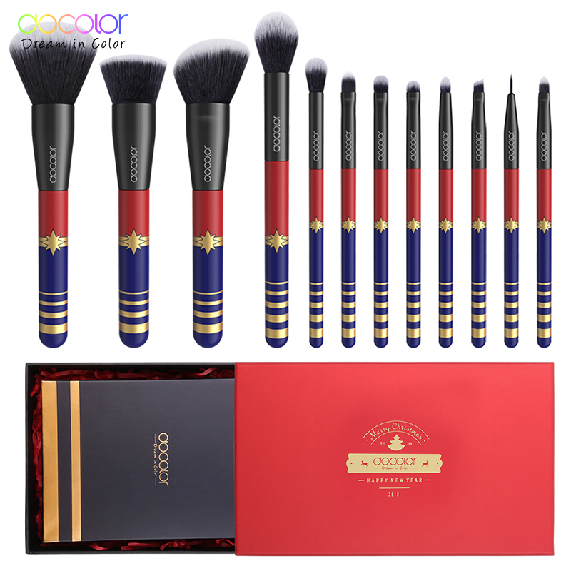 Docolor 12PCS Make up Brushes Set Christmas Gift Brushes for Makeup Nice Package Synthetic Hair Powder Foundation Eye BrushesDocolor 12PCS Make up Brushes Set Christmas Gift Brushes for Makeup Nice Package Synthetic Hair Powder Foundation Eye Brushes