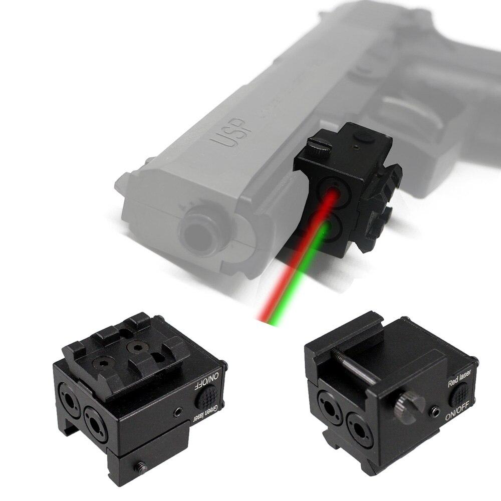 USB Rechargeable Tactique Vert Rouge Double Faisceau Visant la Vue Au Laser pour Sous-Compacte à Pleine Taille Armes de Poing