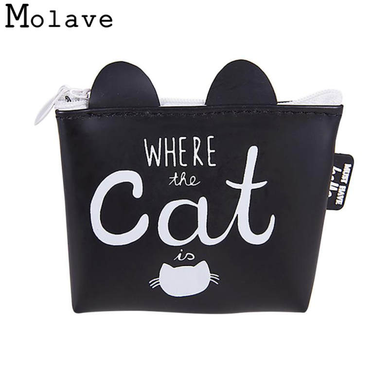 Naivety Mini Cartoon Printing Coins Purses PU Leather Cat Prints Coin Purse Small Zipper Wallet 50S71213 drop shipping new brand mini cute coin purses cheap casual pu leather purse for coins children wallet girls small pouch women bags cb0033