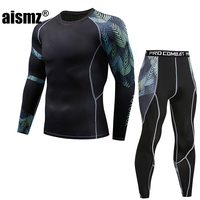 Aismz Thermal Underwear Men Thermo Clothes Long Johns Thermal Tights Winter Compression Underwear Quick Dry pantalon termico