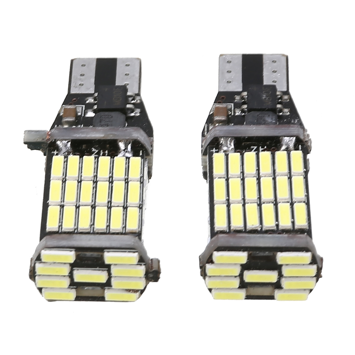 Car Signal Lamp 2pcs T10 T15 Super Bright Xenon White Bulb 921 912 4014 W16W 45SMD LED Canbus Width Backup Reverse Lights