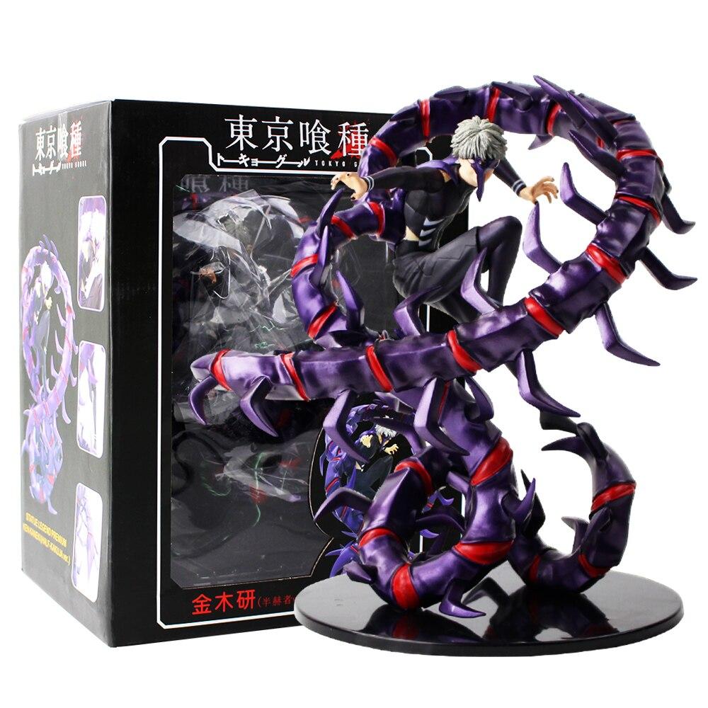 Nueva llegada 26cm Tokyo Ghoul Kaneki Ken Anime Generación de oscuro Jin muyan estatuilla figura de acción de PVC Comercio al modelo de juguete