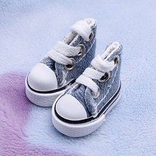 1 Pair Sneakers Handmade Doll Shoes Baby DIY Canvas Toy Fashion Mini Lace Up Gift Joint Toy Accessories Girl Boy(China)