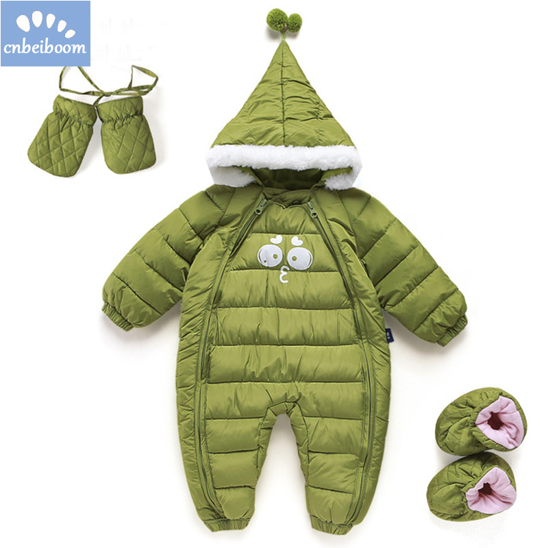 73a9e82dc 2019 Down Cotton Baby Rompers Winter Thick Boys Costume Girls Warm ...