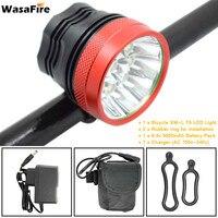 WasaFire 18000Lumen 9 * T6 LED Front Fahrrad Licht Outdoor Radfahren Licht Kopf lampe Taschenlampe Fahrrad licht + Wiederaufladbare 9600mAh Batterie