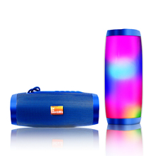 лучшая цена Wireless Bluetooth Speakers LED Portable BoomBox Outdoor Bass Column Subwoofer Sound Box with Mic Support TF FM USB Subwoffer