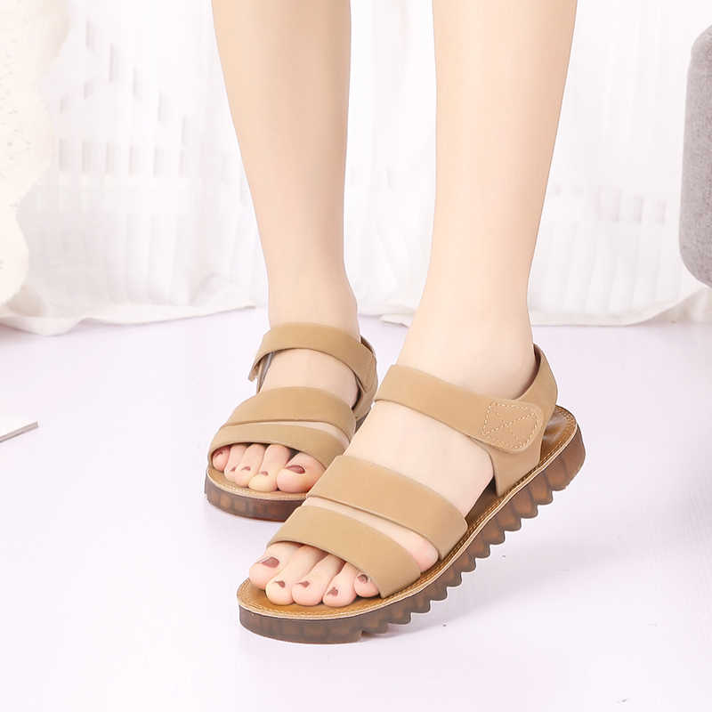 cf989007e00a HEE GRAND 2019 New Summer Platform Sandals Women Back Strap Gladiator Slip  On Round Toe Creepers