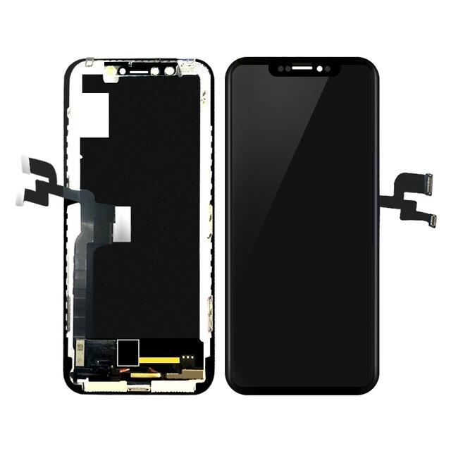 5,8 дюймов ЖК-дисплей Дисплей для iPhone X ЖК-дисплей Сенсорный экран планшета Ассамблеи Замена Черного цвета; Бесплатная доставка