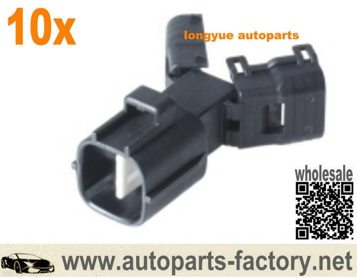 longyue 10pcs Oxygen O2 sensor OE Male Connector Case For Toyota Highlander v6-33 2004-2006