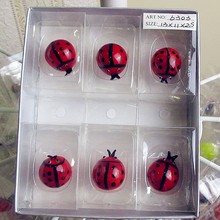 Wholesale custom color glass sculpture Ladybug hand blown ornaments Home Furnishing cartoon animal gardening decoration