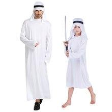 купить Umorden White Arab Arabian Prince Costumes Arabian Sheik Costume Kids Boys Middle East Ali Baba Fancy Cosplay for Men по цене 865.59 рублей