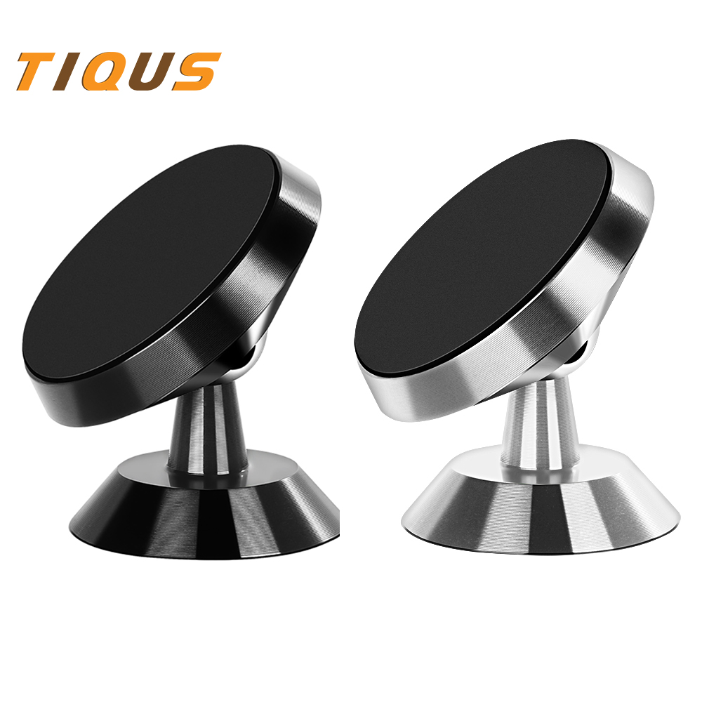 TIQUS Magnetic Phone Holder Car 360 Degree GPS Universal Mobile Phone Magnet Mount Air Vent Car Holder For IPhone X 7 8 Samsung