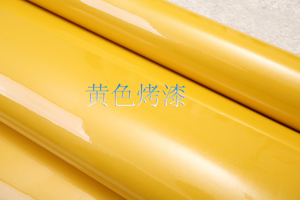 Free Shipping Pvc Waterproof Wallpaper Car Kitchen Furniture Wallpaper Solid Color Yellow Wallpaper Adhesive Paper For Furniture