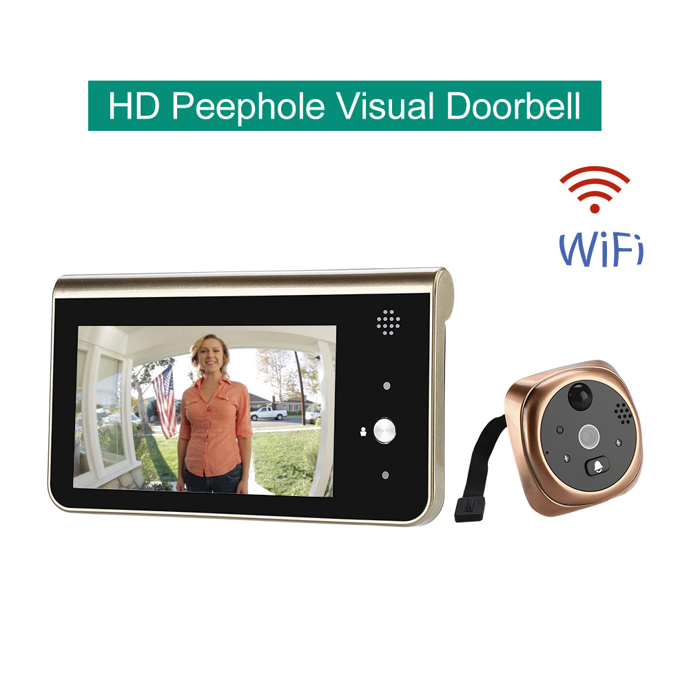 Smart Video Eyes Doorbell Monitor Door Peephole PIR Motion Detection deurbel met camera wifi wireless doorbell with cameraSmart Video Eyes Doorbell Monitor Door Peephole PIR Motion Detection deurbel met camera wifi wireless doorbell with camera