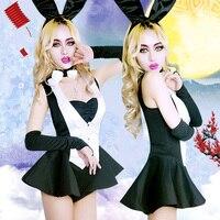 בר ארנב ארנב מבוגרים Cos מותקן משחק תפקידי מסיבת פסטיבל אמצע סתיו נשי בגדי ביצועי מועדון לילה חדש