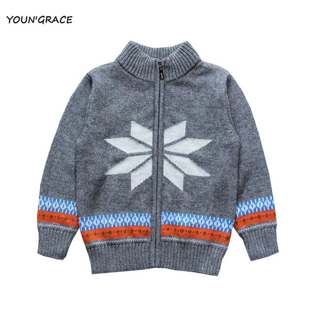 2015 nova inglaterra estilo meninos do floco de neve padrão de lã camisola meninos listrado camisola de malha, Yc188