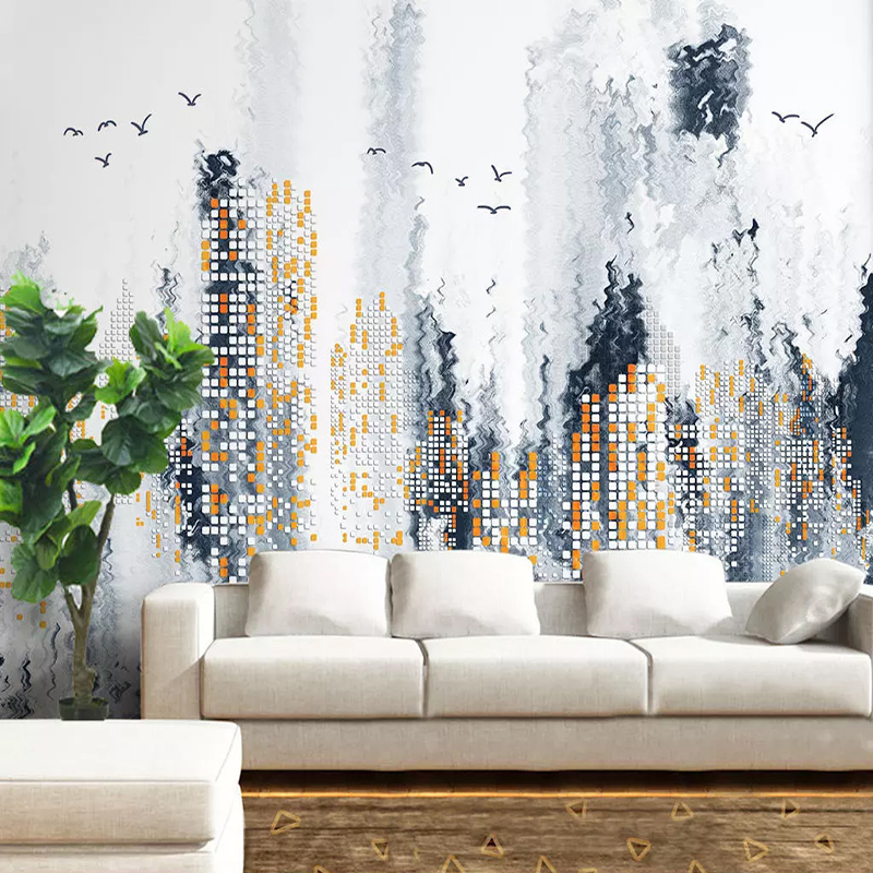 Custom Mural Wallpaper Modern Abstract Art City Building Photo Wall Paper For Walls 3 D Living Room TV Sofa Study Room Frescoes