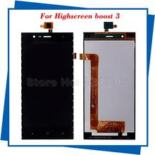 For Highscreen Boost 3 Original Quality LCS Touch Screen Digitizer Accembly Black for Highscreen LCD Free Shipping