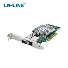 LR LINK 4001PT PF double port 10 Gb Ethernet PCI E carte réseau optique SFP +, RJ45, convertisseur de média Fiber trois en un