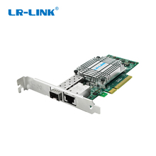 LR-LINK 4001PT-PF dual port 10Gb Ethernet PCI-E Optic Network Card SFP+ ,RJ45 ,Fiber Media Converter three-in-one combination