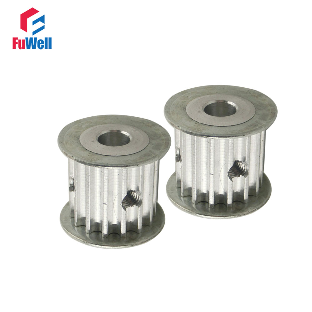 2pcs HTD5M Type 15T Timing Pulley 5/6/6.35/8/10/12mm Inner Bore 21mm Belt Width 5mm Pitch 15Teeth Timing Belt Pulley2pcs HTD5M Type 15T Timing Pulley 5/6/6.35/8/10/12mm Inner Bore 21mm Belt Width 5mm Pitch 15Teeth Timing Belt Pulley