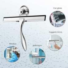 Скребок для оконных стекол ёршик из нержавеющей стали резиновый стеклоочиститель с присоской домашний Автомобиль кухня ванная комната зеркало для душа инструмент для очистки