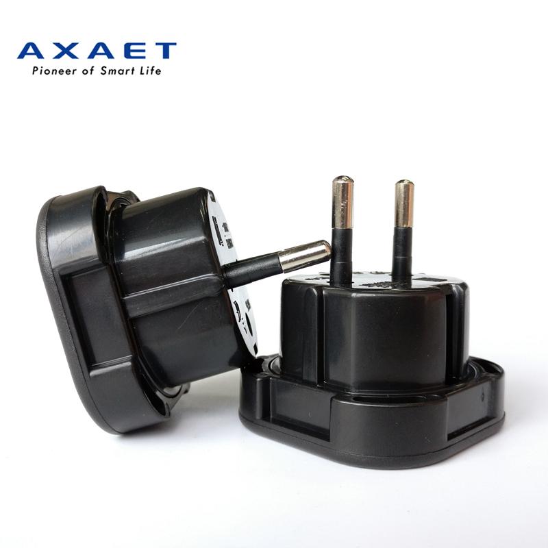AXAET UK to EU plug AC Travel Charger Adapter Plug Outlet International Converter Adapter 10A/16A 240V Black New Arrival 1 pcs