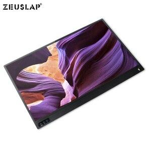 Image 4 - 15.6 cal monitor z ekranem dotykowym przenośny ultracienkich 1080P HDR IPS HD rodzaj usb C wyświetlający informacje o laptop telefon XBOX przełącznik i PS4