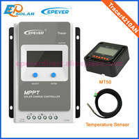 40A solar tracker controller mppt solar regulator 12v 24v auto max pv 100v input with MT50 remote meter and temperature sensor